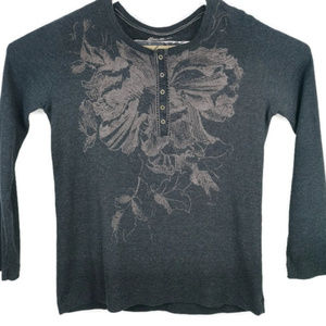 Eddie Bauer Graphic Thermal Long Sleeve 1/4 Button